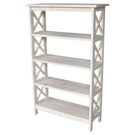 unfinished wood shelves outdoor