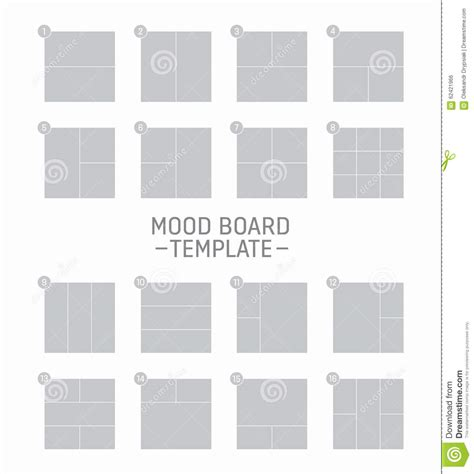 mood board template vector mood board template stock vector image of idea
