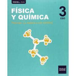 libro fsica y qumica serie inicia dual f 237 sica y qu 237 mica serie diodo 3 186 eso libro del alumno pack las mejores ofertas