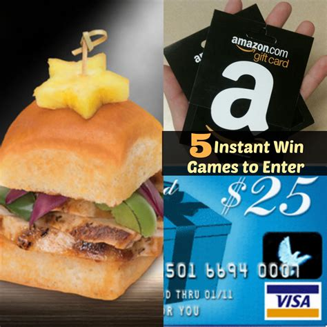 Instant Win Gaming - 5 instant win games to enter now sweepstakes advantage