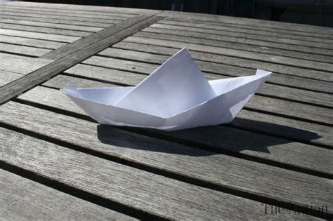 How To Make A Paper Float - make a floating boat out of paper