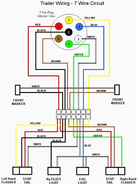 trailer light connector wiring diagram 4 wire trailer