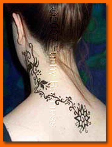 henna tattoos fort worth photo of henna neck back design by dallas ft worth artist