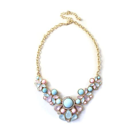 Floral Charm Necklace charm jewelry chain pendant flower choker chunky statement bib necklace fashion