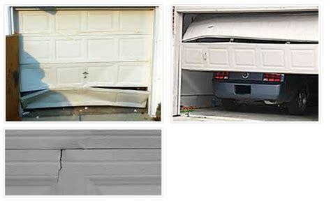 how to repair a garage door panel garage panel repair universalcouncil info