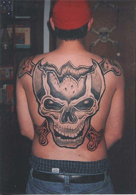 时尚的骷髅满背纹身第3页