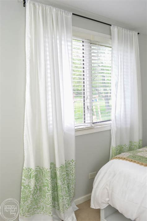 using sheets as curtains cheap diy curtains made with sheets refresh living