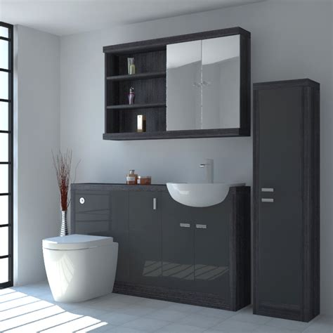 fitted bathroom furniture sale hacienda 1500 fitted furniture pack grey buy online at