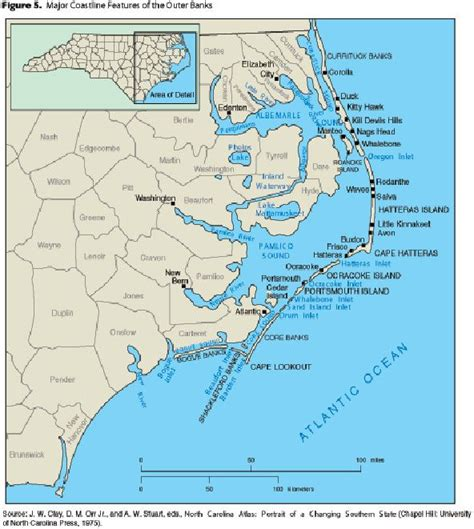 map of coast of carolina map of carolina coast of beaches rivers and lakes