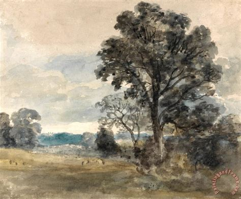 Landscape Artists Constable Constable Landscape At East Bergholt Painting