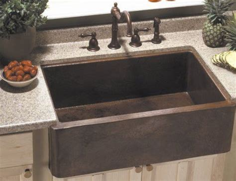 Bronze Kitchen Sinks Foret Apron Front Kitchen Sink Rubbed Bronze Farmhouse Cou