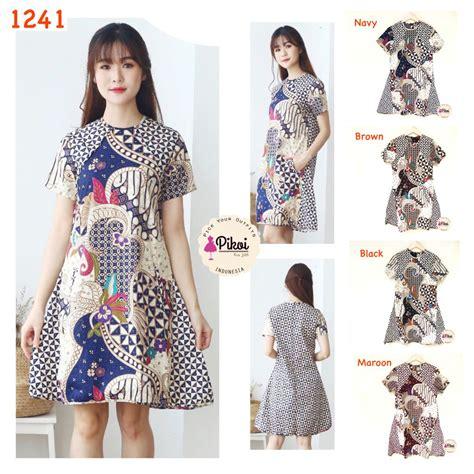 Dress Modern Murah dress batik modern murah dress batik wanita kantor