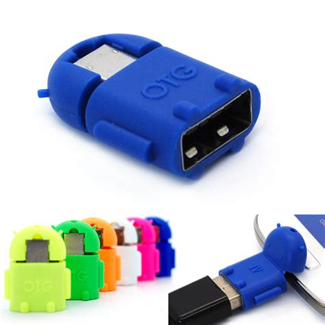 android mini robot micro usb otg adapter fr samsung galaxy s4 s3 s2 note 3 2 tab ebay