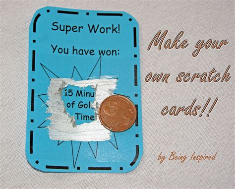 how to make your own card being inspired day 30 make your own scratch cards