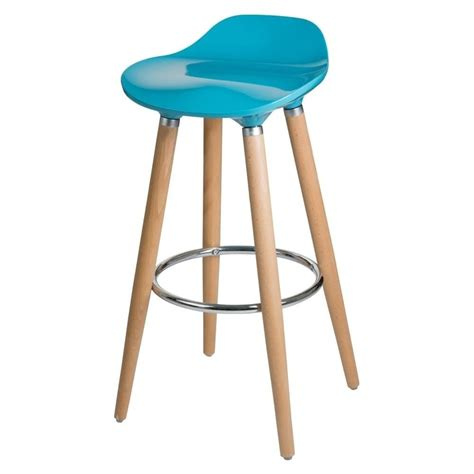 beech bar stools buy teal plastic bar stool with beech wood legs from