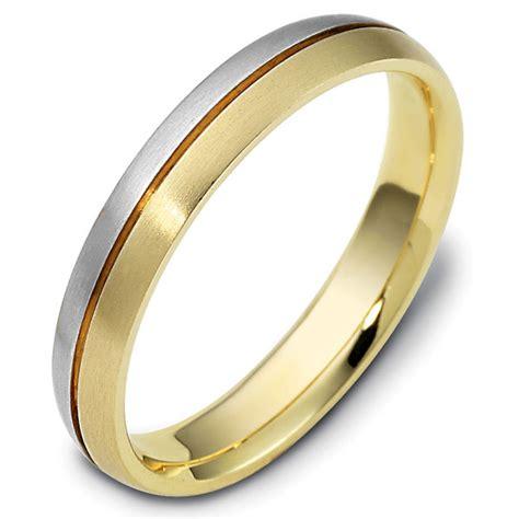 118411pe platinum gold comfort fit wedding band