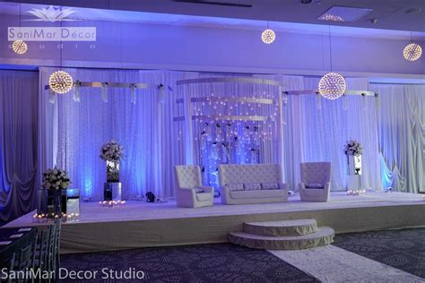 Backdrop Draping Ideas Wedding Stage Decor