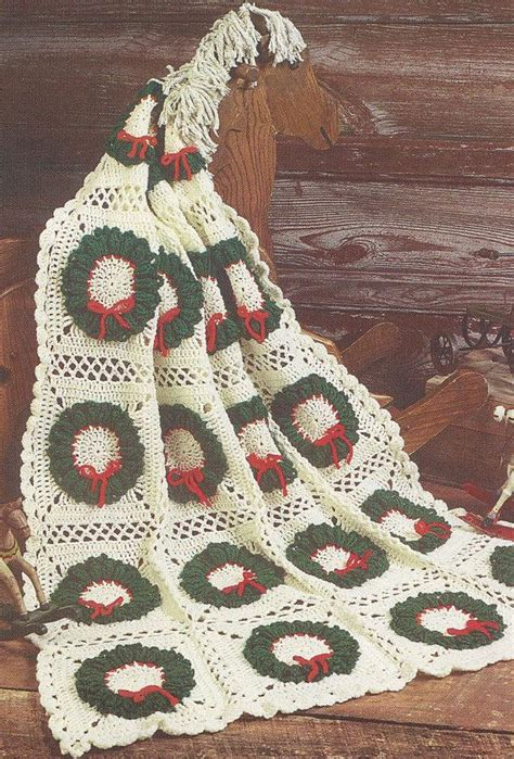 pattern christmas afghan christmas afghan crochet patterns wreath motifs winter