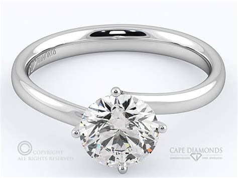 85 four claw twist solitaire engagement ring