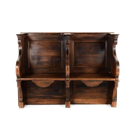 solid oak benches 19th century french solid oak misericord benches for sale