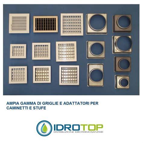 camino calda griglia bocchetta cm16x16 con adattatore per
