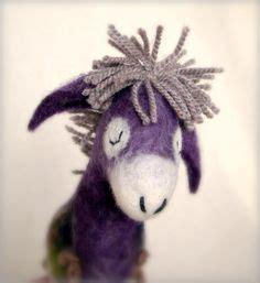 pattern for felt donkey plush soft toy sewing pattern floppy eared donkey vintage