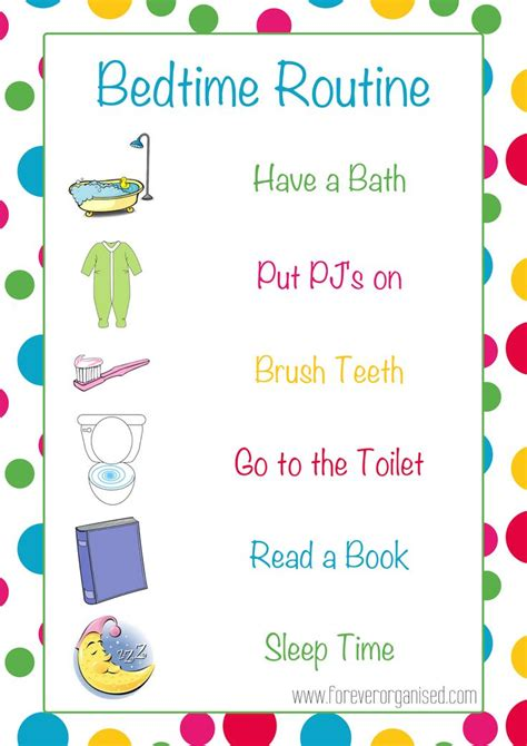 printable toddler bedtime routine chart image gallery nighttime routine