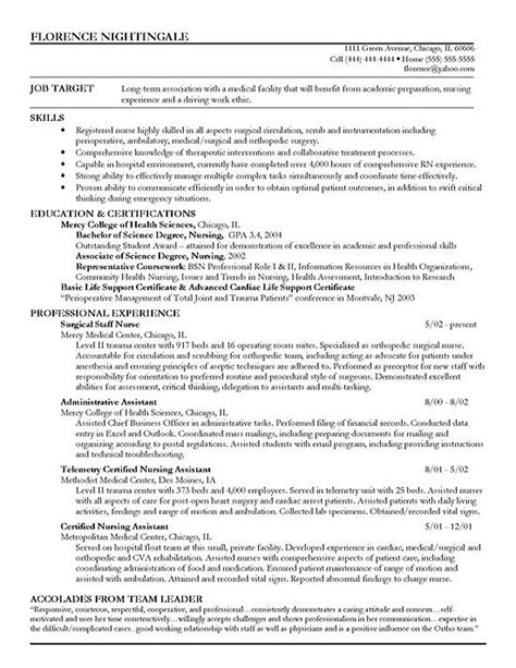 Sle Resume Skills Nurses Sle Career Objective For Resume For Nurses 28 Images