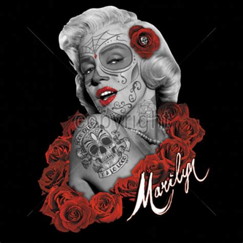 marilyn monroe skull tattoo designs gangsta skull pictures shirt custom design marilyn