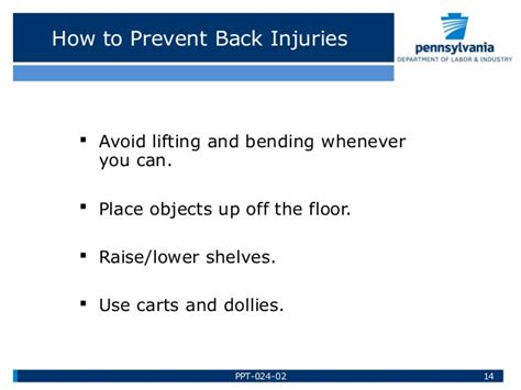 back safety safe lifting by bureau of workers comp paths