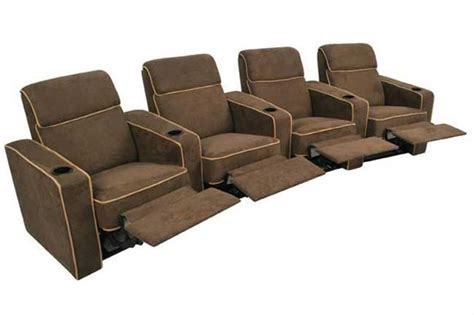 lorenzo home theater seating brown recliners 4 chairs ebay