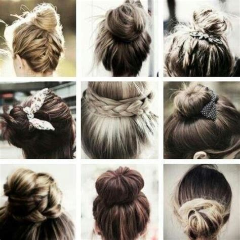 different hairstyles buns types of bun hairstyles hair beauty pinterest