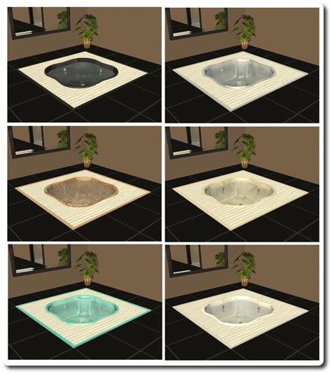 mod the sims spiffy spa designable sunken tub