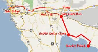 yuma california map directions from s calif yuma golf rocky point