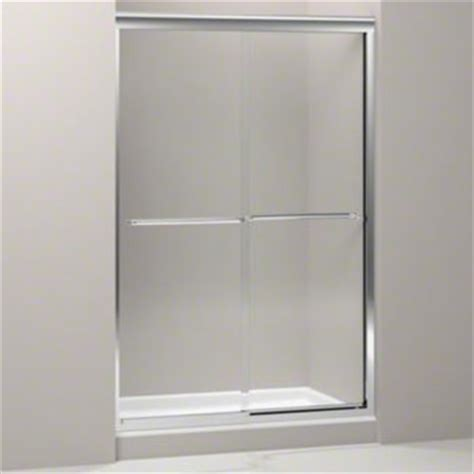 Kohler Frameless Sliding Shower Doors with Kohler K 702215 L Shp Fluence Frameless Sliding Shower Door With Clear Glass Bright