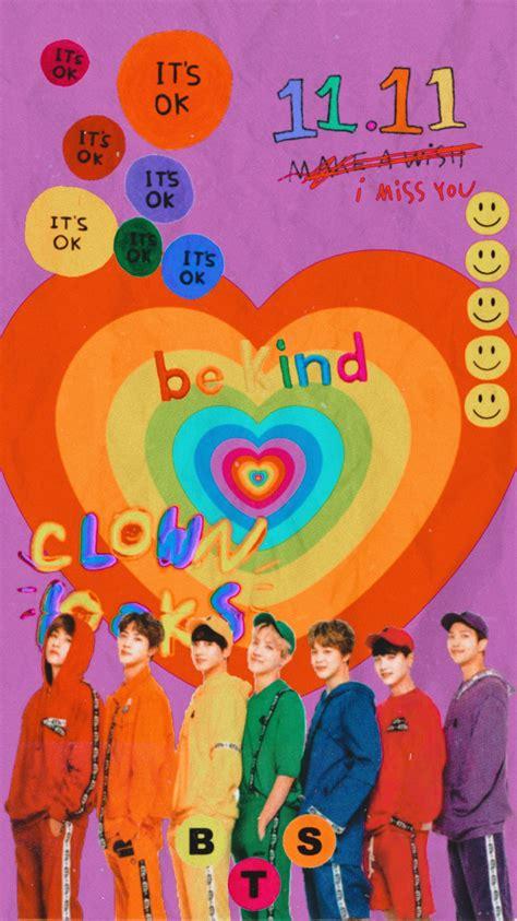pin  fairybby  bts lockscreen rainbow wallpaper