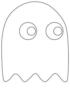 pacman ghost coloring page coloring page pac man video games 6 printable