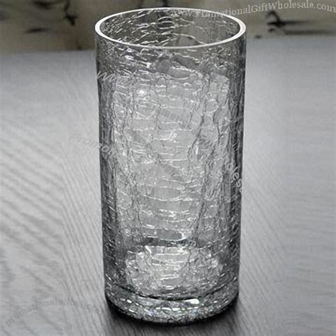 Cracked Glass Vase by Blown Glass Vase With Broken Pattern Printing