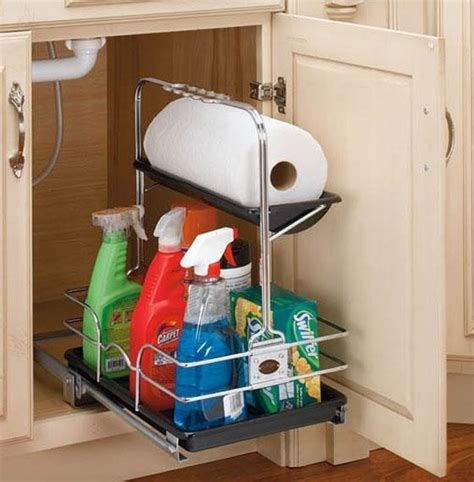 sink kitchen storage rev a shelf removable sink caddy eclectic pantry