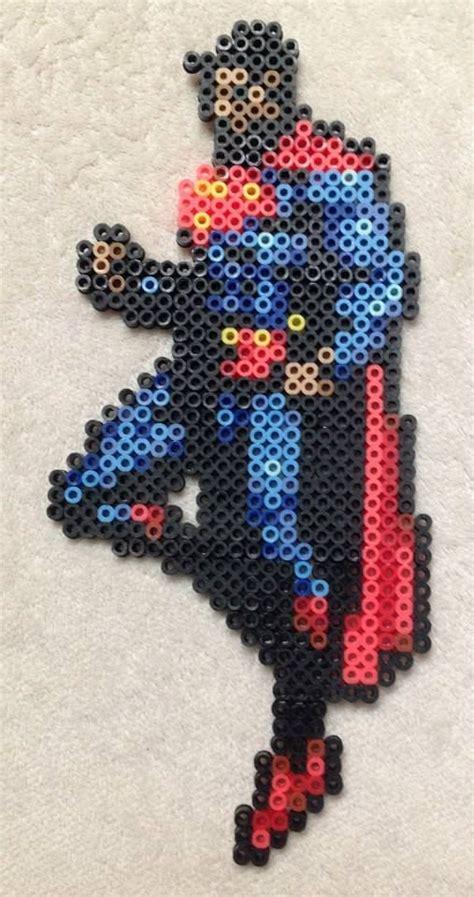 perler superman superman sprite perler bead