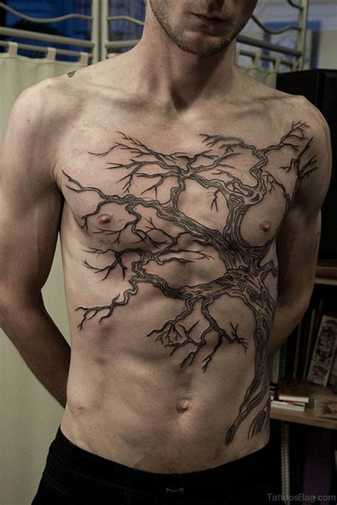 cool chest tattoo designs 64 mind blowing tree tattoos for chest