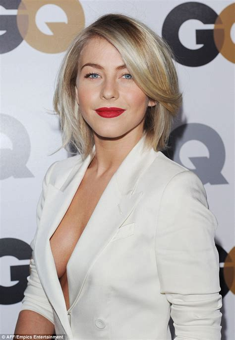 Julianne Hough shows she's all woman in a masculine white