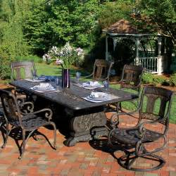 Patio Furniture On St Moritz Cast Aluminum Dining Patio Furniture By
