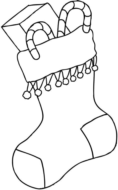 cute stocking coloring page 6 best images of christmas stocking coloring pages