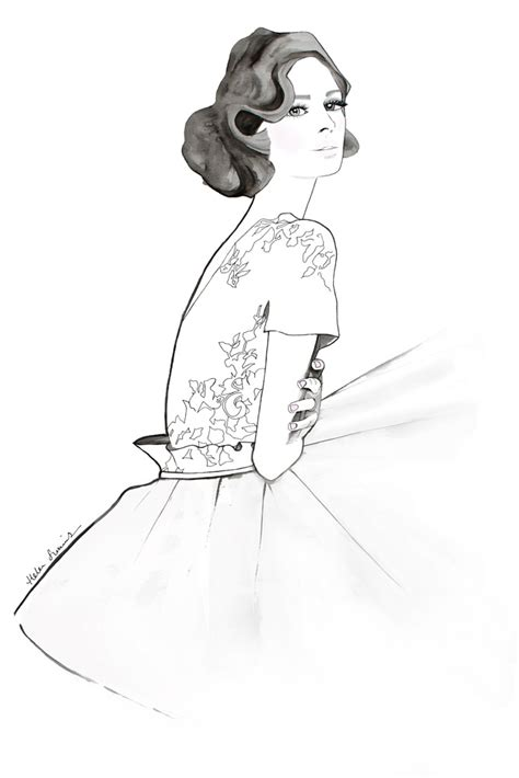 fashion illustration website my dress illustration helen simms illustration