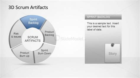 3d agile scrum artifacts powerpoint diagram sprint backlog
