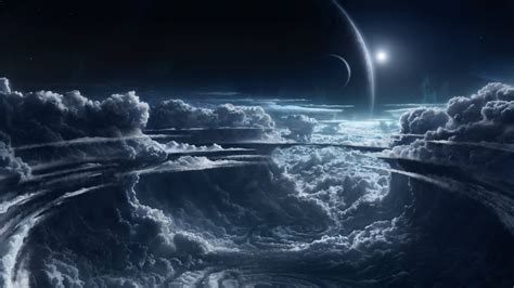 wallpaper cool 4k wallpaper moon planets clouds 4k space 9215