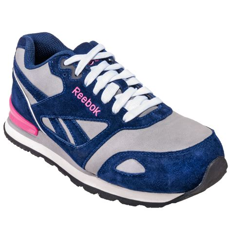 composite toe athletic shoes reebok shoes s rb976 blue pink composite toe esd