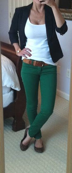 white blazer neutral colored tank black jeans pants love it white shirt navy blazer red pants clothes