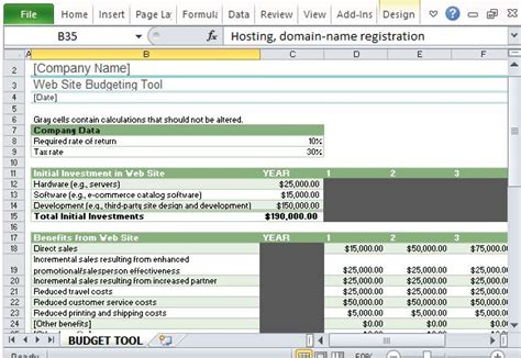 how to plan a website website budget tracker template for excel